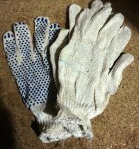 Перчатки садовые х/б с ПВХ покрытием