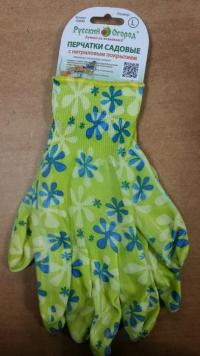 Перчатки садовые Зеленая ромашка S