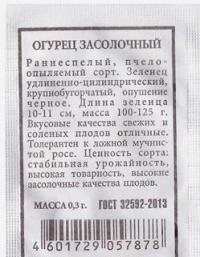 Огурец  Засолочный