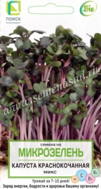 Микрозелень Капуста краснокочанная 5г