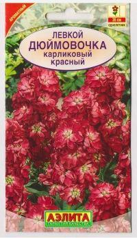 Левкой Дюймовочка красный