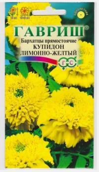 Бархатцы Купидон лимонно-желтый